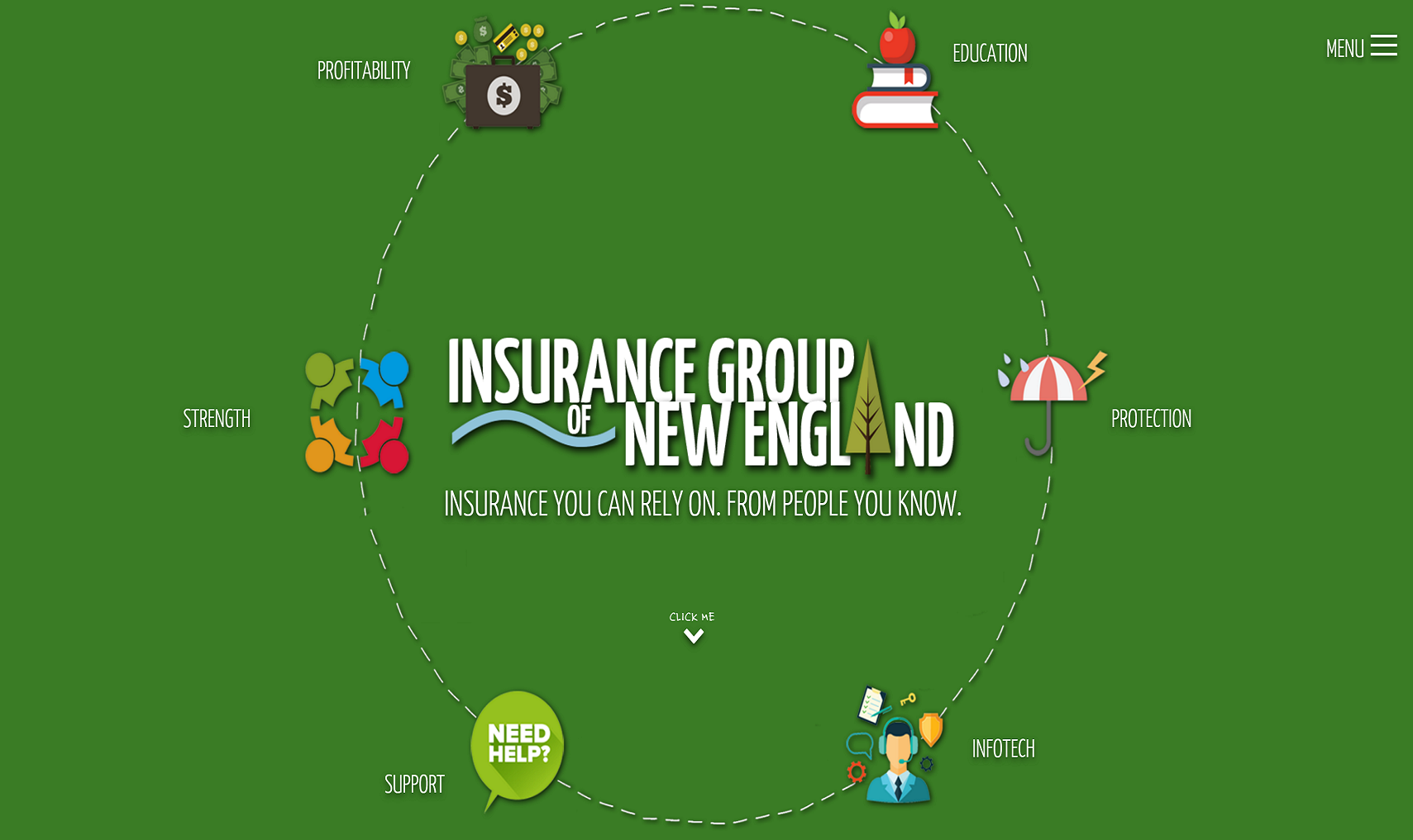 website design, branding and SEO for independent insurance group