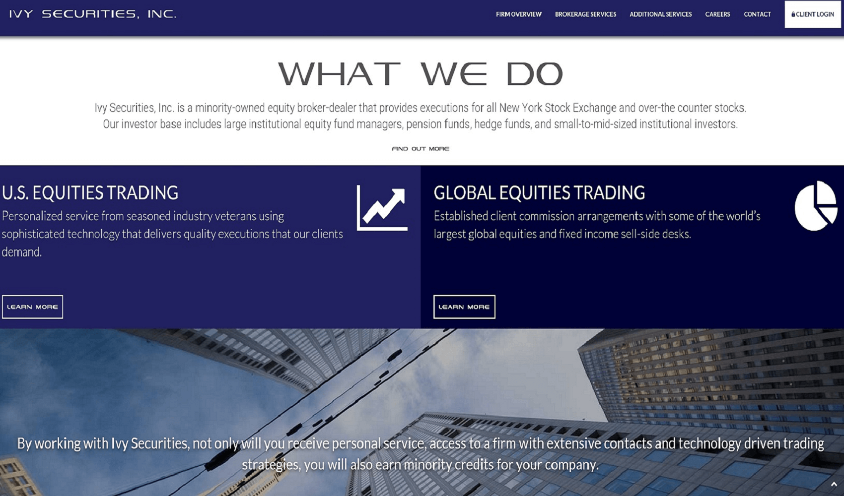 website design and SEO for institutional broker dealer