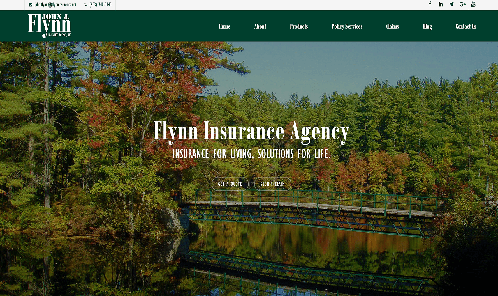 website design insurance services