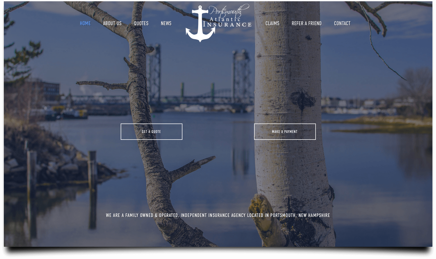 website design for insurance vertical