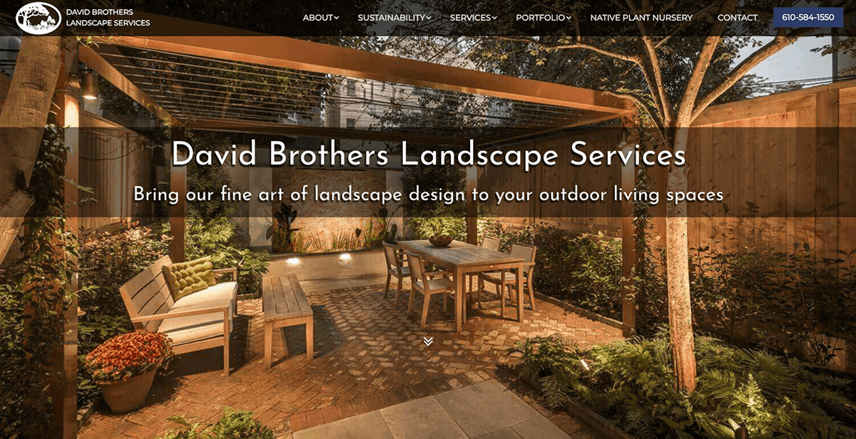 website design services for landscaping companies