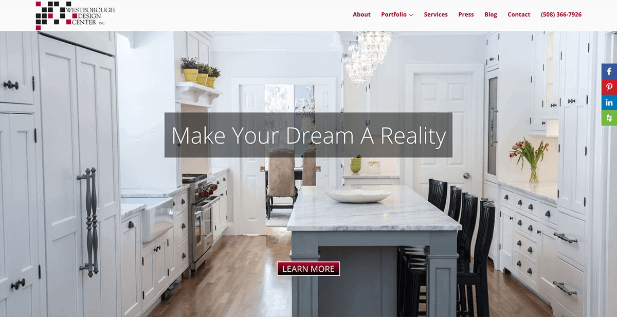 website design and SEO services for kitchen design centers