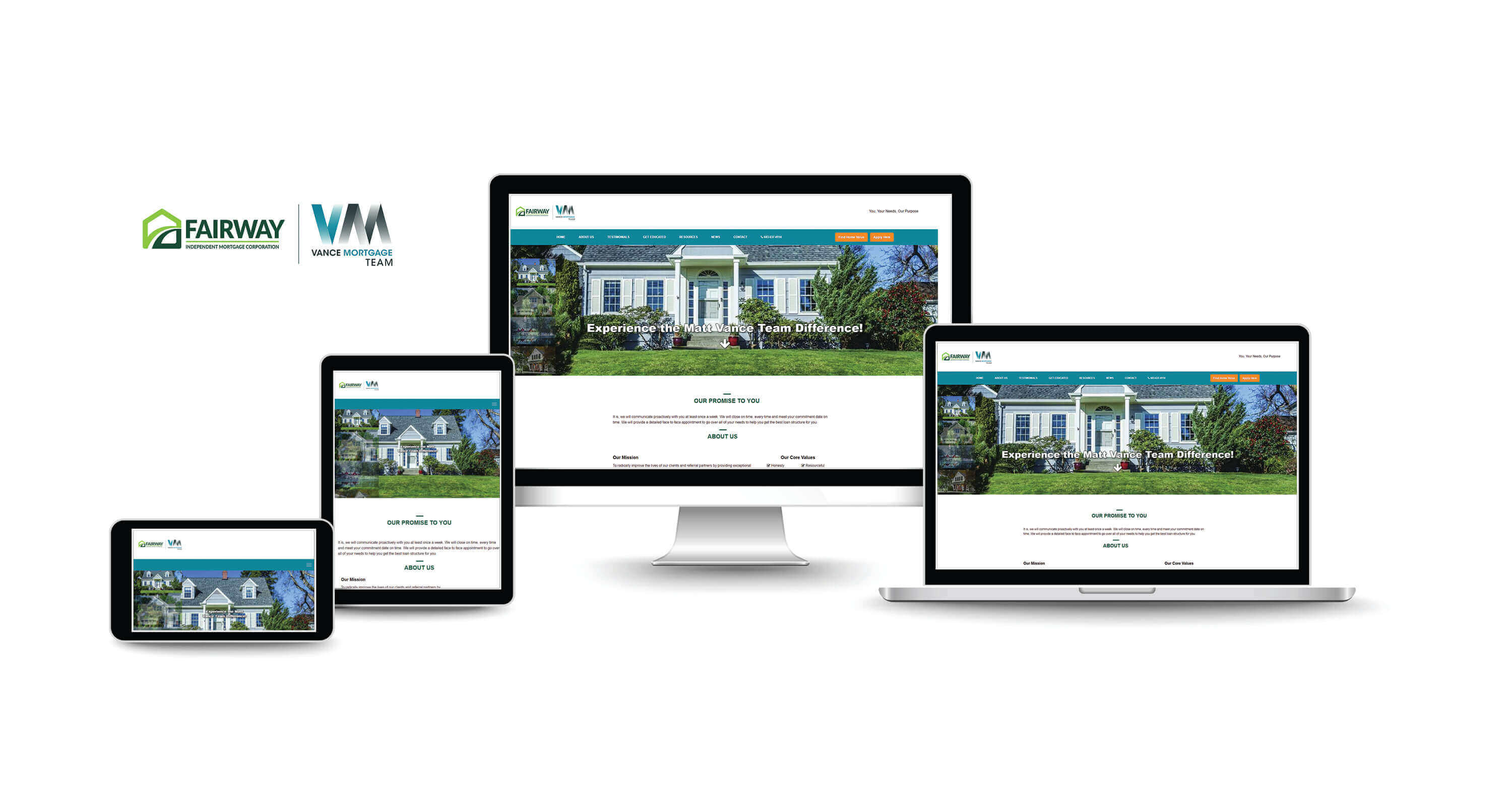 website design company for mortgage services firms
