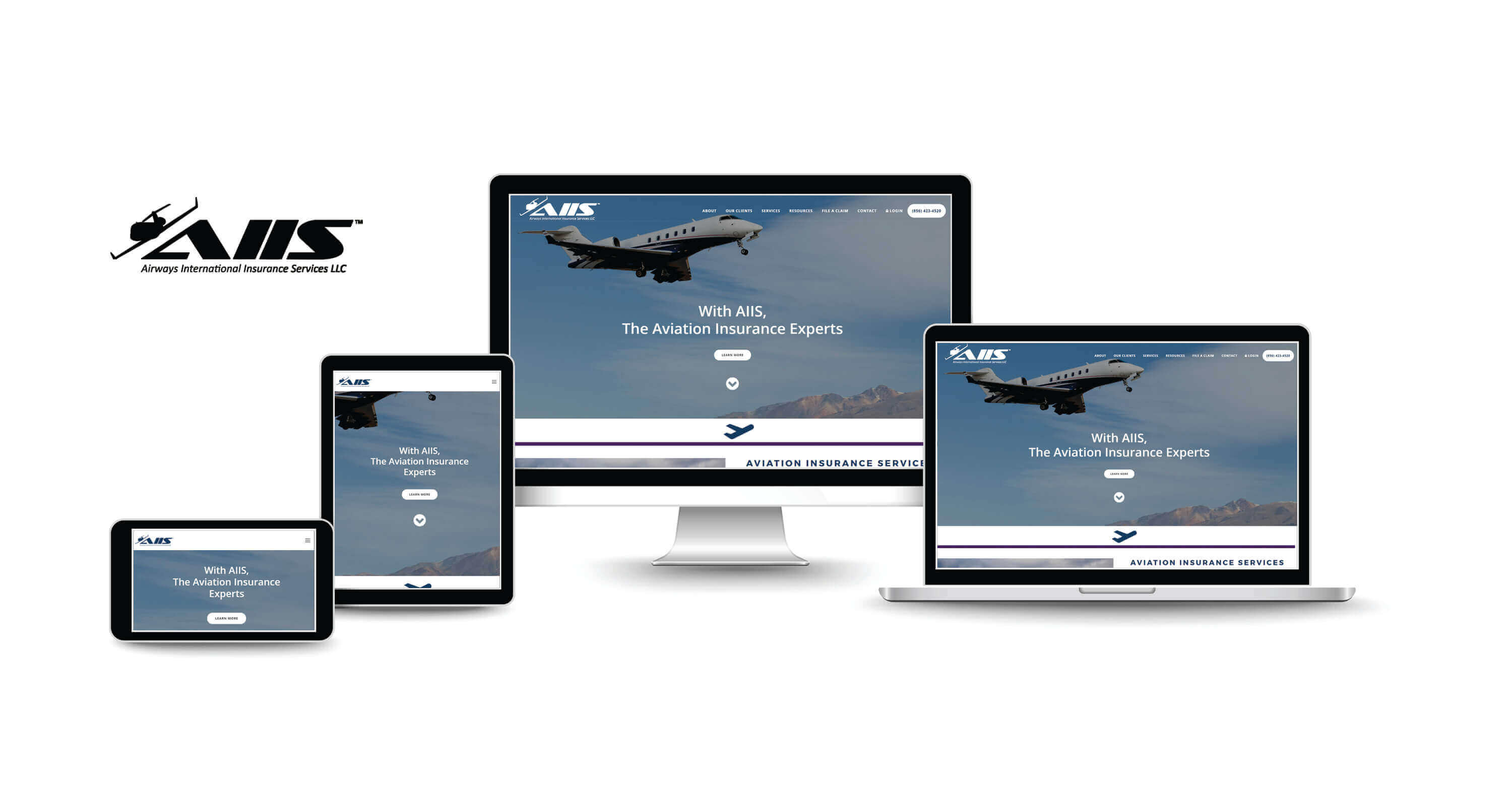 website design and SEO services for aviation insurance company