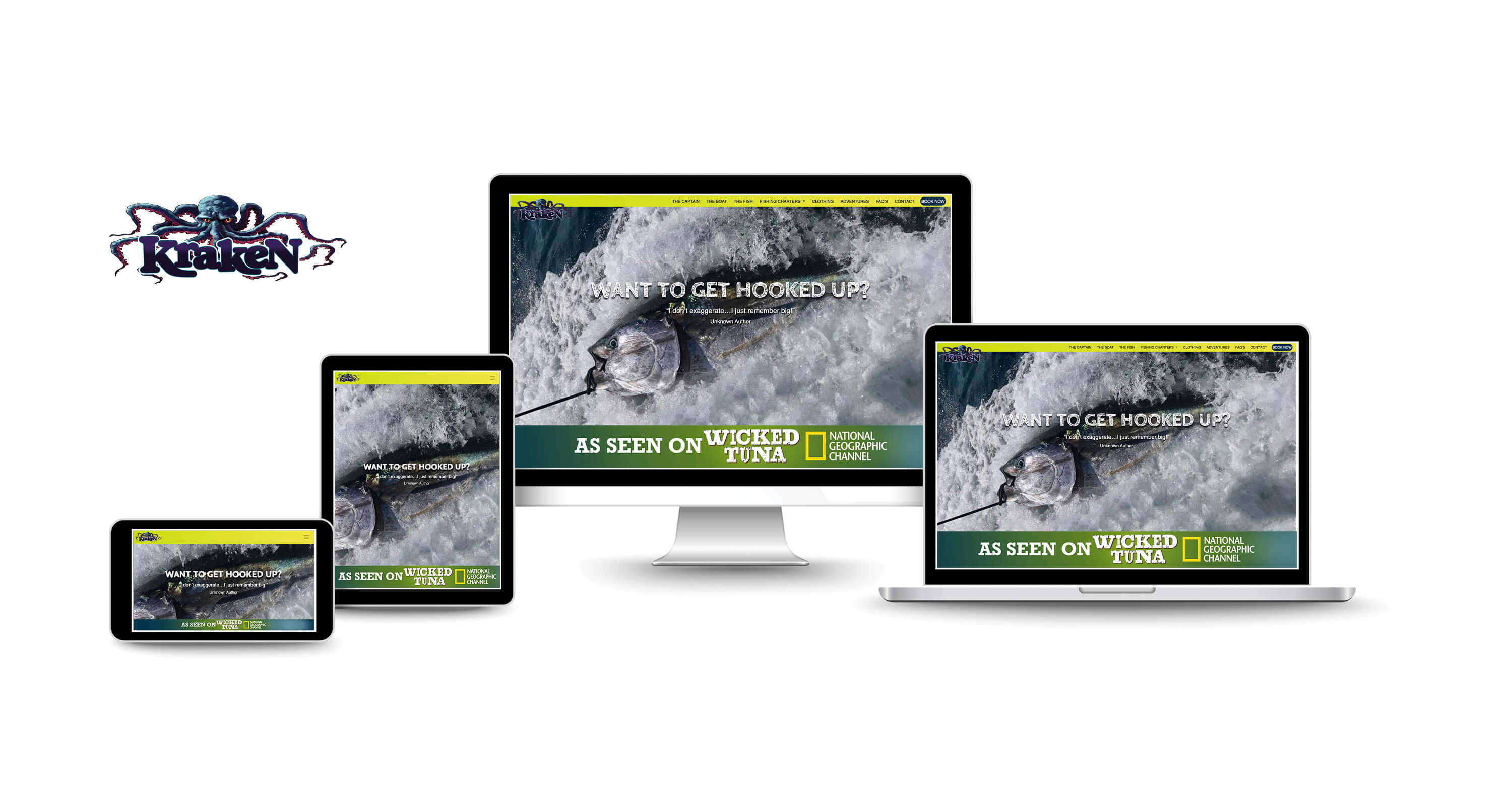 website design services for charter fishing companies