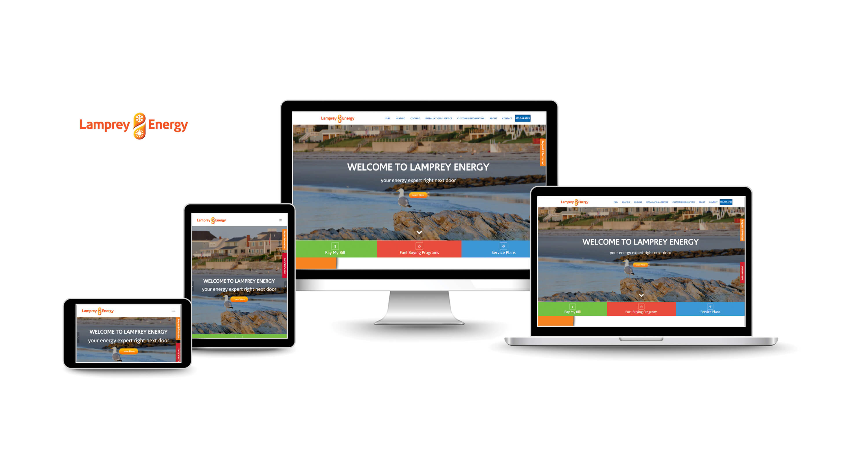 website design services for energy utility companies