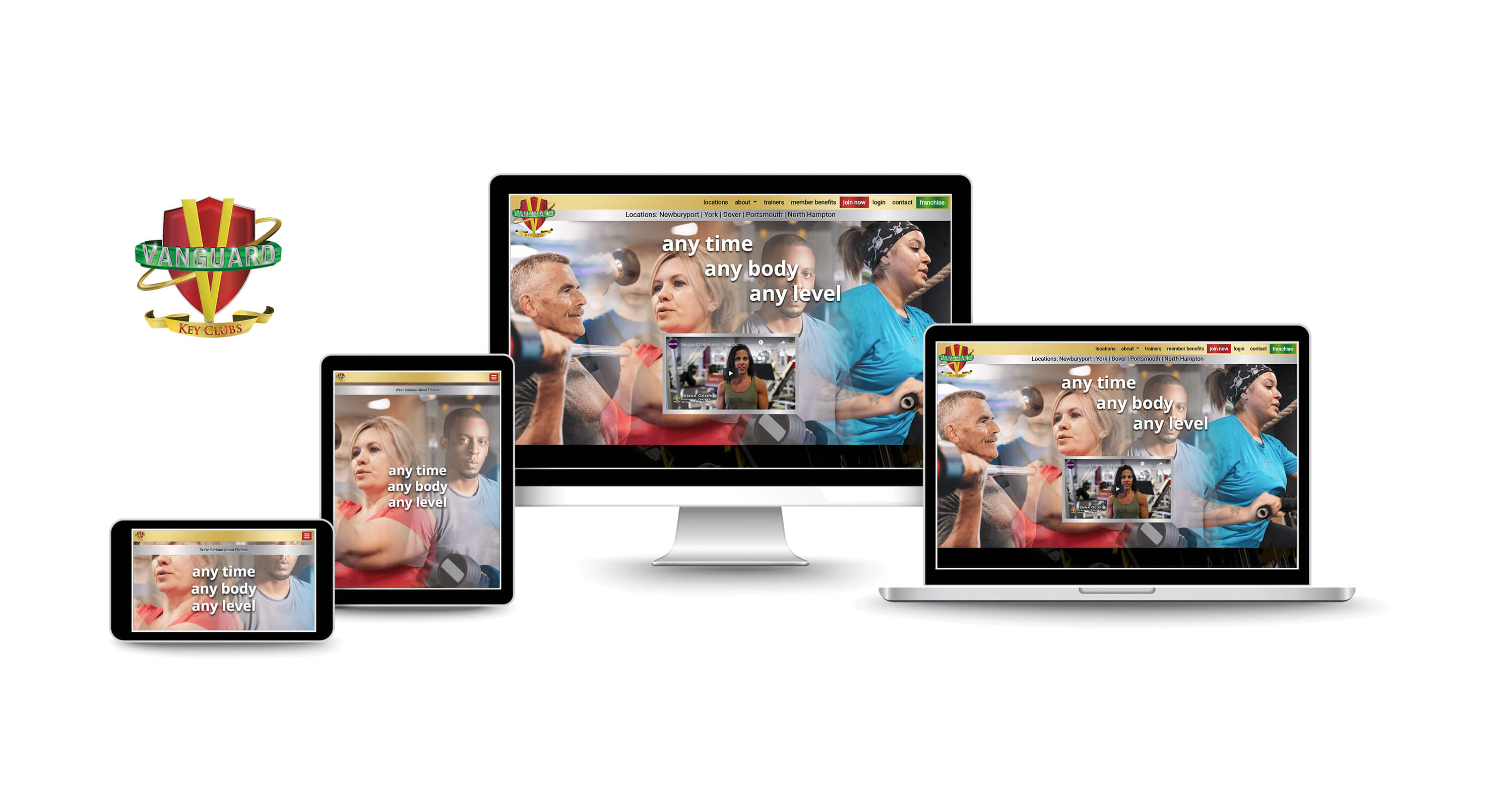 website design services for fitness health clubs